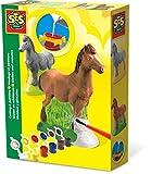 SES- Set de moldear y Pintar Caballos para niños, Multicolor (01211)