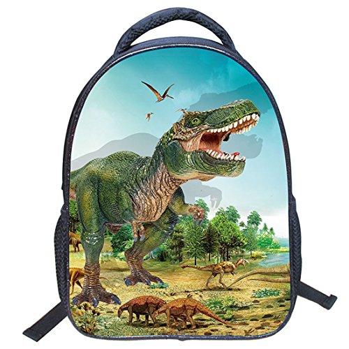 Jiyaru Imprimir Mochila Dinosaurio Patrón para Niños Bolso