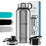 Trinkflasche Edelstahl 950ml ACTIVE FLASK + 3...