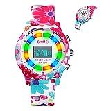 Montre électronique de sport numérique pour enfants pour garçons filles, multifonctions enfants montre-bracelet pour enfants de 5 à 18 ans