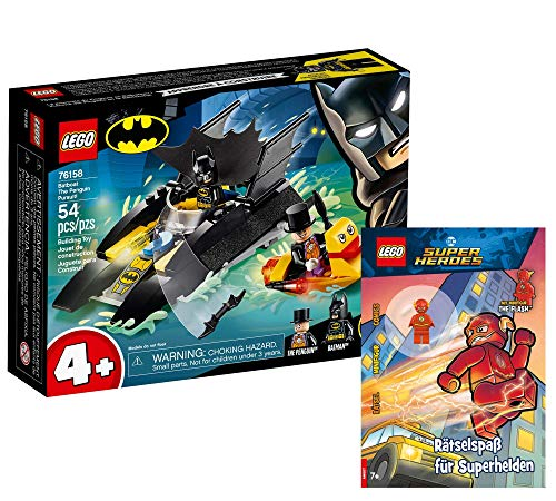 Collectix Lego 76158 - Juego de construcción de Lego (persecución del pingüino con el Batboat 76158 + Lego DC Comics Super Heroes: diversión para superhéroes (cubierta blanda)