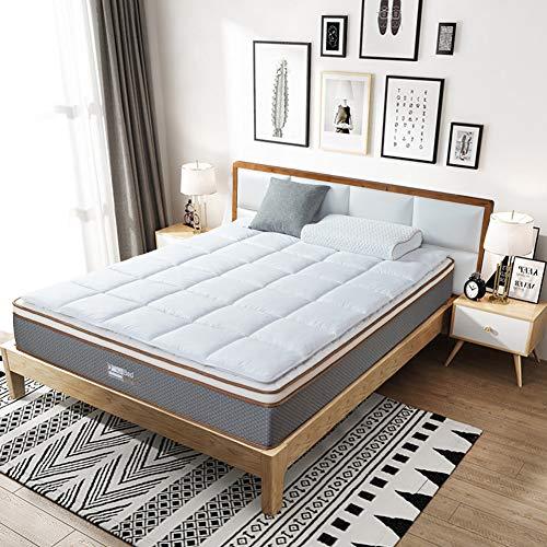 BedStory Matratzenauflage 140 x 200 cm, Weiches und Warmes Unterbett mit Eckgummis, Microfaser-Matratzenschoner für Boxspringbetten und Wasserbetten