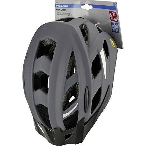 FISCHER Erwachsene Urban Levin Fahrradhelm, grau-schwarz, L/XL - 3