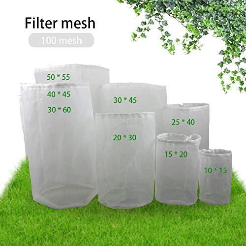 mooderff 1st notenmelkzak nylon netfilterzak, herbruikbaar binnenlands bierbrouw-wijn-filterzak voor yoghurt, kaas, noten, melk, thee, koffie (8 maten)