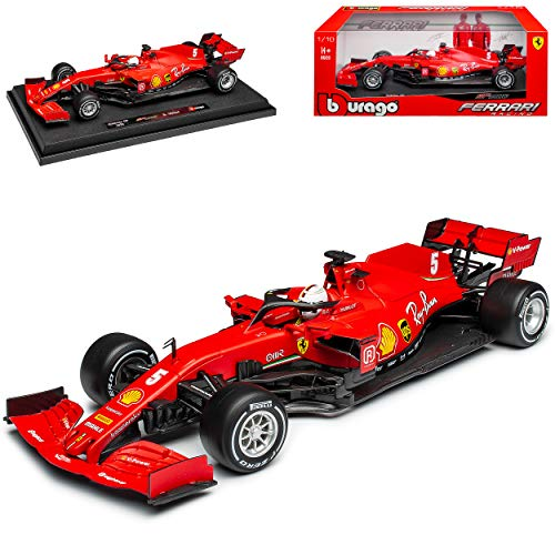 Ferrari SF1000 Nr 5 Sebastian Vettel GP Österreich Saison 2020 Matt Rot mit Sockel 1/18 Bburago Modell Auto