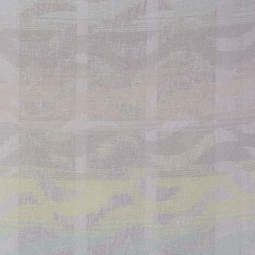 SCHÖNER LEBEN. Gardinenstoff Dekostoff Leinenoptik halbtransparent Wellen weiß Mint Taupe gelb 1,60m Breite