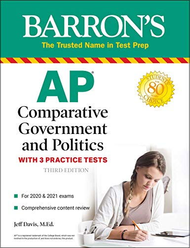 Compare Textbook Prices for AP Comparative Government and Politics: With 3 Practice Tests Barron's Test Prep Third Edition ISBN 9781506254661 by Davis M.Ed., Jeff