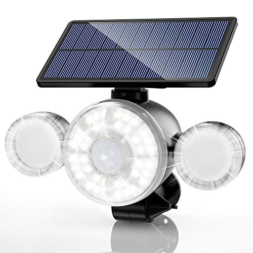 Solar Lights Outdoor, 88 LED Solar Security Lights with Motion Sensor, 2-in-1 Wireless Outdoor Lights Solar Landscape Spotlights for Yard Garden Driveway Porch Walkway Pool Patio [Upgraded Version]