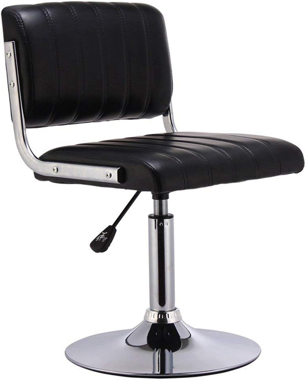 YQY Chair- Bar Stool Pu + Plating Metal Stylish Simplicity 360 &Deg; redation Bar Cafe Home Practical Chair