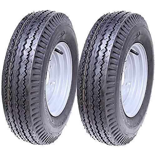 Parnells 5.00-10 Remolque Ruedas 4 Capa High Speed, Road Legal 355kgs 500x10 72N - Conjunto de 2