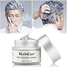 HailiCare Silver Gray Temporary Hair Dye Wax 4.23 oz, Silver Ash Hair Wax, Natural Matte Hairstyle for Party, Cosplay (Silver Gray)