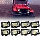 Riossad 8 X 72W Focos de Coche LED Potentes, 12V-24V LED luces de...