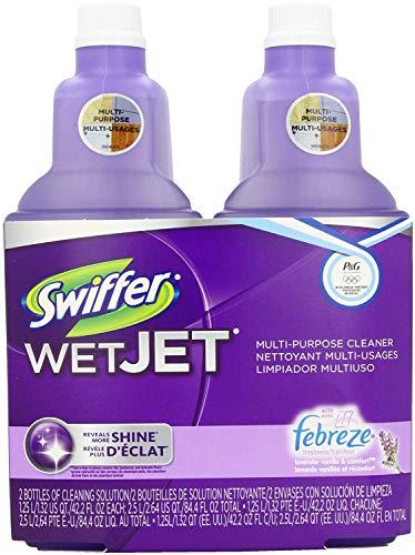 Swiffer Wet Jet Spray Mop Floor Cleaner Multi-Purpose Solution - Lavender Vanilla & Comfort - 42.2 oz - 2 pk