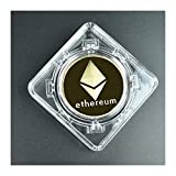 Moneda de bitcoin chapada en oro en la colección de la caja de metal Regalo Casascius Bit Coin BTC Coin Arte Colección Impresionante Regalo Físico Commemorativo Llavero ( Couleur : Gold ethereum )