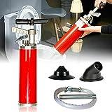 Fetcoi Desatascador – Desatascador de vacío con alta presión y fuerte succión para lavabos, inodoros, bañeras, fregaderos, 30 – 130 mm, 0,7 MPa