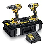 DeWalt DCK266P2-QW Perceuse visseuse à percussion Brushless + visseuse à chocs Brushless + 2 batteries 18V 5Ah Li-ion + coffret Toughsystem Jaune