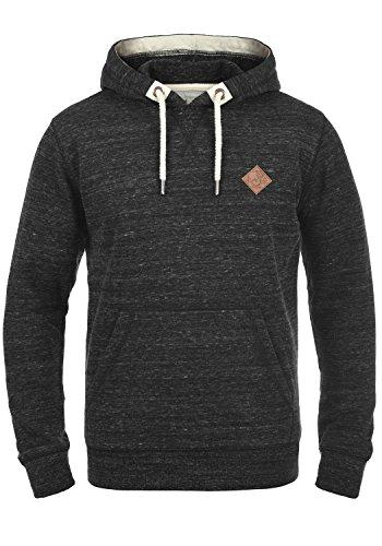 !Solid Kevin Herren Kapuzenpullover Hoodie Pullover Mit Kapuze Und Fleece-Innenseite, Größe:L, Farbe:Black (9000)