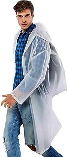 RYY Raincoats Reusable Poncho, Rain Resistant Raincoat Emergency Mountaineering Rainwear for Adultsr (Color : White, Size...