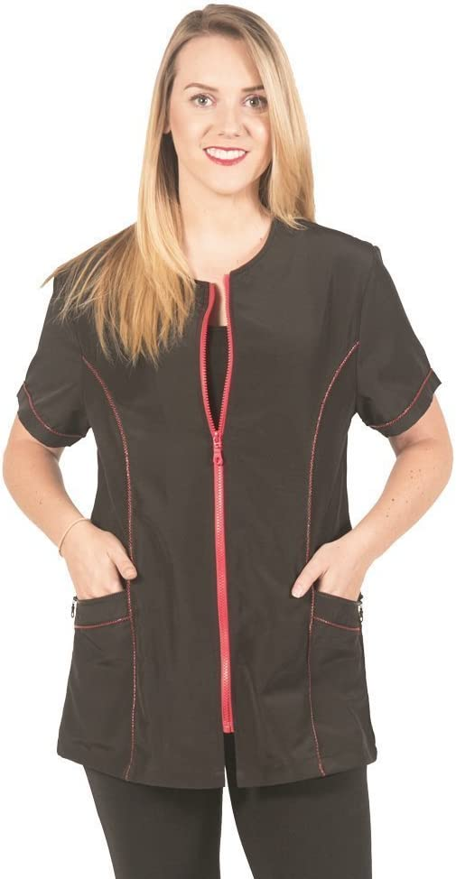 Ladybird Line Fashionable Red Zipper for P Sacramento Mall Ideal Max 86% OFF Jacket Grooming