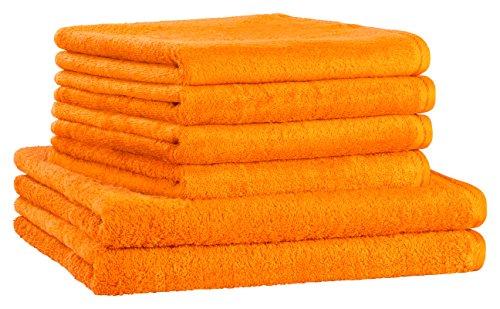 Floringo Premium Handtuchset Handtuch Set 6-teilg Profi-Star 500g/m² (Ziegel)