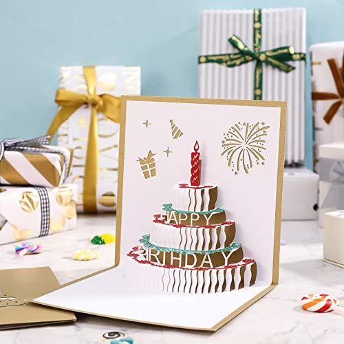 Marsviex 誕生日カード 立体 おしゃれ 子供 2枚セット バースデーカード 大人 おもしろ ポップアップカード 女の子 お誕生日カード 男の子 お祝いカード誕生日 メッセージカード 誕生日 可愛い グリーティングカード 封筒付き プレゼント お祝い