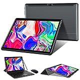 Tablet 10 Pulgadas Baratas y Buenas 5G WiFi Android 10.0 Tableta con Procesador Quad-Core, 800 * 1280 FHD Display, 64 GB Ampliables hasta 128 GB, Teclado/Ratón/OTG/Bluetooth - Gris