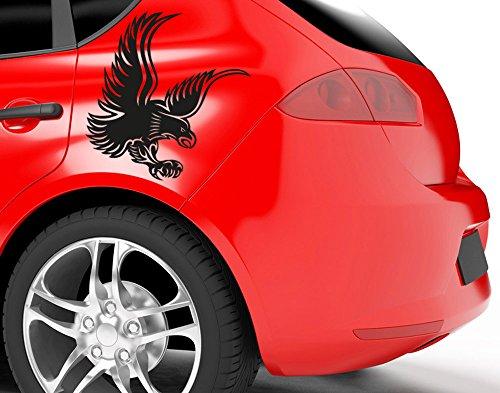 universumsum Autoaufkleber Adler schwarz 30 x 30 cm uss164_a-30-031 Car-Tattoos Autotattoo Auto Tuning Car Styling selbstklebend