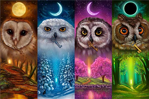 Yqgdss Four Seasons of Owls Rompecabezas De Madera DIY 500 Piezas para Adultos Niños Juguetes Educativos Regalo Art Descompresión Relax