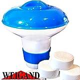 Weigand Mini Dosatore galleggiante per fino a 10Compresse Da 20grammi per Pool, Whirlpool, Quick Up & gonfiabile, ca. Ø 12cm X H 12cm