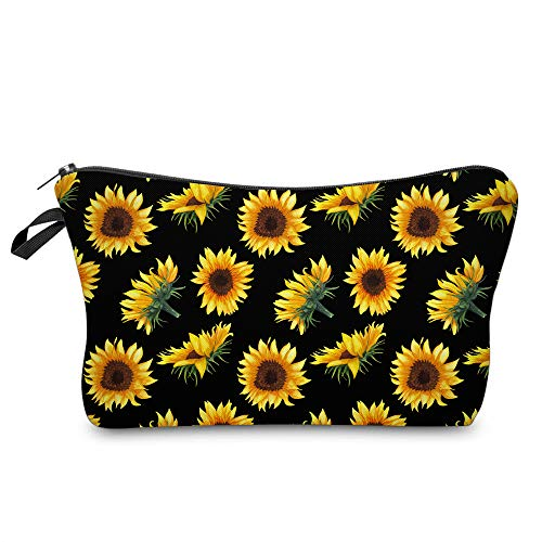 Cosmetic Bag for Women,Deanfun Sunflower Flowers Waterproof Makeup Bags Roomy Toiletry Pouch Travel Accessories Gifts 52355
