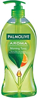 Palmolive Body Wash Aroma Morning Tonic, 750ml Pump, Shower Gel with 100% Natural Citrus Essential Oil & Lemongrass Extracts
