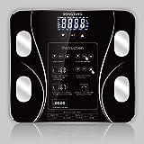 Escala de pesaje Escala de Peso Digital Cuerpo Smart Hogar Pesaje Peso Escala de Peso Báscula de baño 180kg / 400lb Negro
