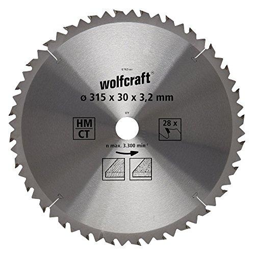 Wolfcraft 6742000 1 TischKreissägeblatt HM, 28 Zähne, ø 315 mm