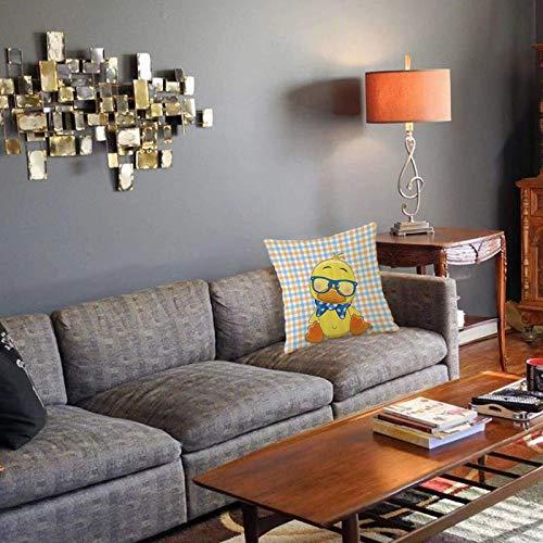 Funda de cojín, Funda de Almohada, cojínConjunto de Dibujos Animados, Hipster Boho Baby Duck con Lazo Punteado Cool Free Spirit Smart GeeFunda de Almohada Decorativa para decoración de salón 40x40cm