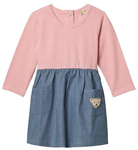 Steiff Mädchen Kleid Jeans-Kleid Langarm, Mehrfarbig (Morning Glory 7013), 68
