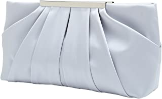 Clutch Evening Bag Elegant Pleated Satin Formal Handbag Simple Classy Purse for Women