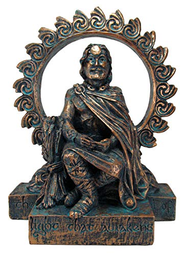 Dryad Design Large Lugh Statue - Celtic God of Harvest - Bronze Finish