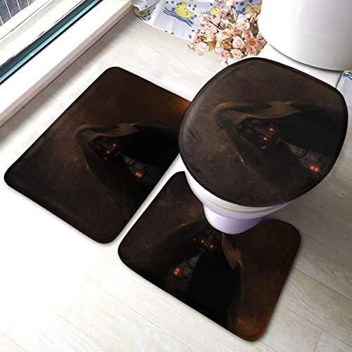 xinping Manda-Lorian Darth Malgus Badematte 3-teiliges Set Anti-Rutsch-Badezimmerteppich Set Weiche Pads Badematte + Kontur Pads +