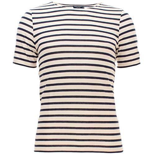 Saint James Herren Shirt Levant Modern mit Streifen in Beige-Blau (50) in Größe L