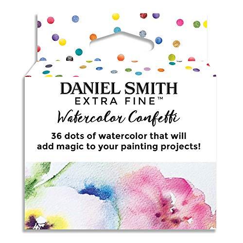 Daniel Smith Extra Fine Watercolor Paint, Watercolor Confetti, Contain 36 Unique Watercolor dot Samples (285900101)