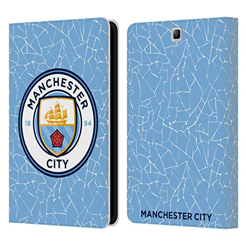 Official Manchester City Man City FC Home 2020/21 Badge Kit Leather Book Wallet Case Cover Compatible For Samsung Galaxy Tab A 9.7