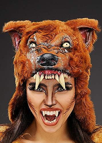 se descuenta Casco máscara hombre hombre hombre lobo marrón Deluxe  soporte minorista mayorista