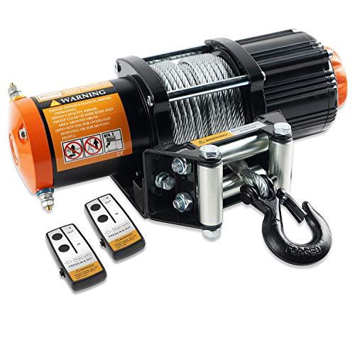 ORCISH 12V 4500lb Electric ATV UTV Winch Kit with 2PCS Wireless Remote