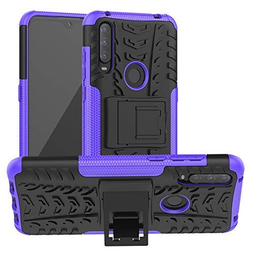 LFDZ Alcatel 3L 2020 Hülle,Abdeckung Cover schutzhülle Tough Strong Rugged Shock Proof Heavy Duty Hülle Für Alcatel 3L 2020 Smartphone(Not fit Alcatel 3L 2019),Violett