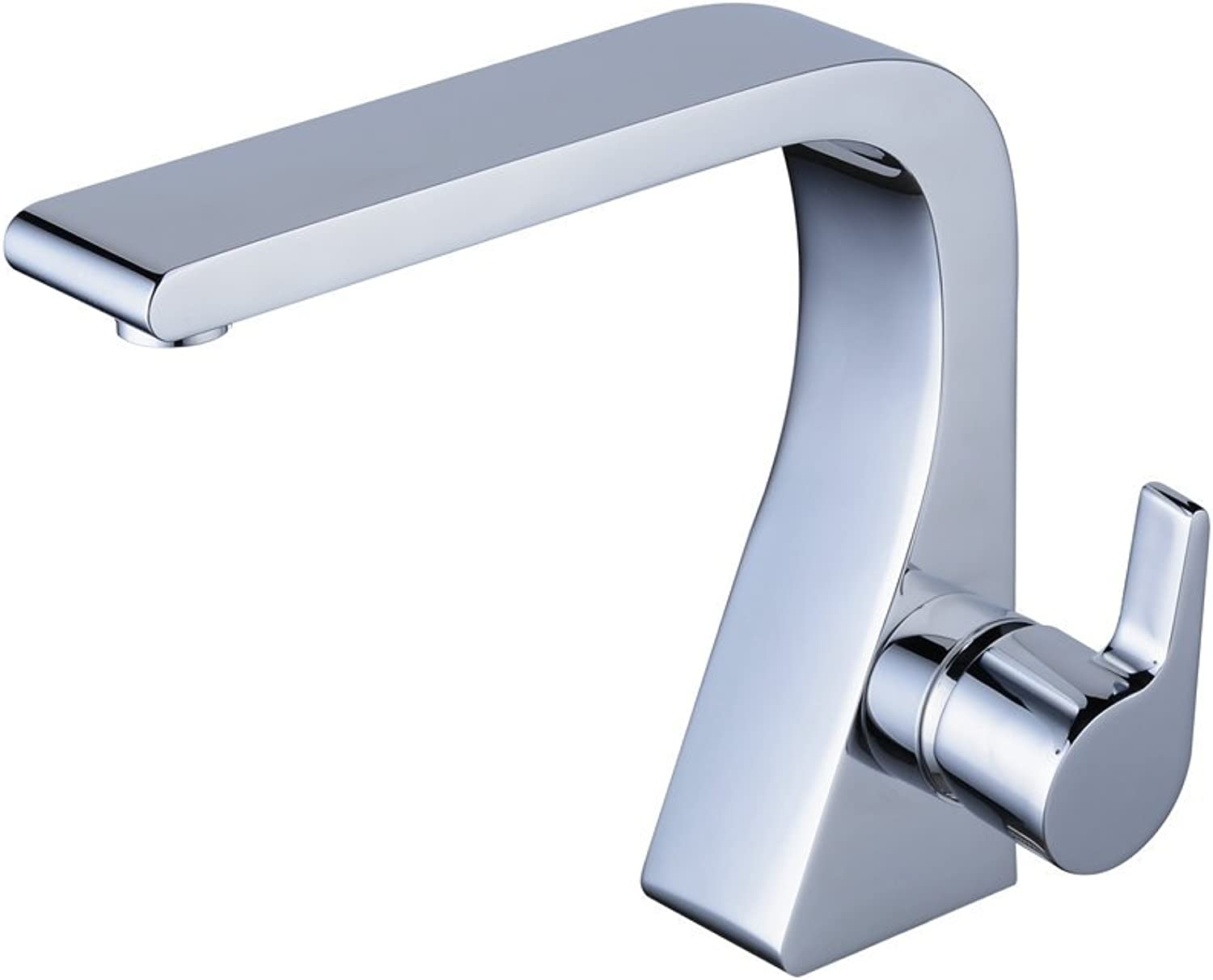 QZH Bathroom Basin Faucet Single Hole Single Handle Sink Faucet Hot And Cold Water Mixing Tap Copper Scratch-Resistant Multi-color Optional,Silver