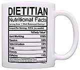 Taza Regalo divertido para el dietista Etiqueta de nutrición