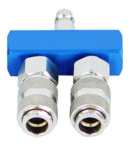 Scheppach 7906100722 Druckluftschnellkupplungen-Set 2-Wege, blausilber