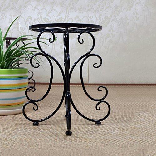CKH Fer Forgé Stand De Sol Creative Simple Balcon Salon Intérieur Vert Suspendu Orchidée Étagère Fleur Pot Rack