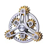 Fidget Spinner Gears Gero Toy for Adults and Teens,One-Finger Operate, Metal Mechanical DIY Toy, EDC Focus Meditation Break Bad Habits ADHD ADD Autism Anxiety Release,Gifts for Boys Kids Girls Men