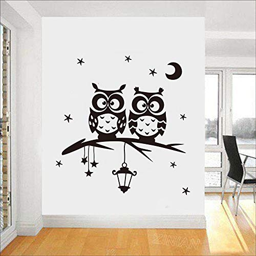 zqyjhkou Star Moon Owl Sticker Living Room Wall Sticker Art Decor Home Decor Removable Wall Decals Cartoon Vinyl Wall Sticke98x102cm